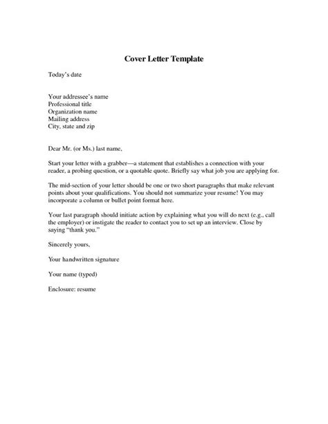 Resume Cover Letter Template Cover Letter Template Resume Badak