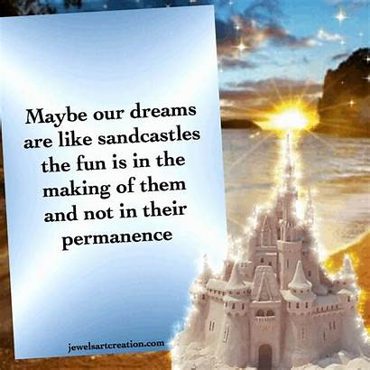 Quotes Glitter Animated Graphics Sandcastles Dreams Beach