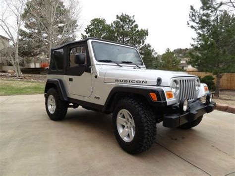 jeep wrangler 4 door silver buy used 2005 jeep wrangler rubicon sport utility 2 door 4