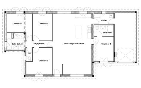 plan maison 100m2 4 chambres plan maison 100m2 3 chambres plan maison bois 3 chambres