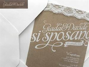 giada davide39s kraft paper and lace wedding invitations With paper and ink wedding invitations