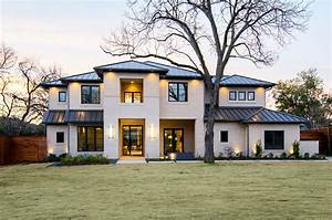 white brick house exterior transitional with black trim ...