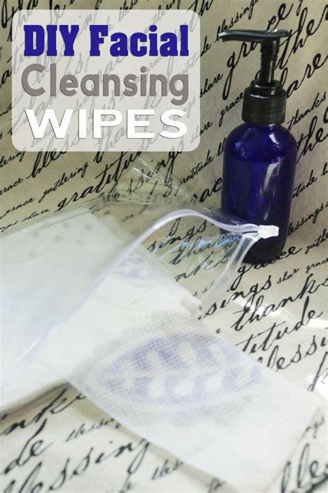 diy facial cleansing wipes  geranium lavender