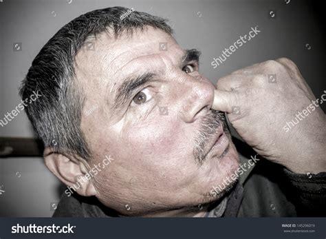 Man Picks His Nose Stock Photo 145296019