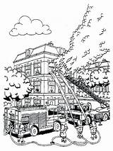 Coloring Fire Pages Fireman Sam Firefighter Putting Colouring Printable Truck Bestcoloringpagesforkids Drawing Printables Lesson Sheets Easy Department sketch template