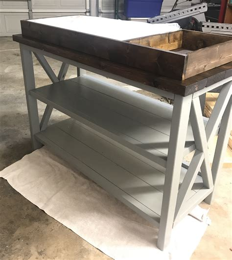 ana white rustic  changing table diy projects