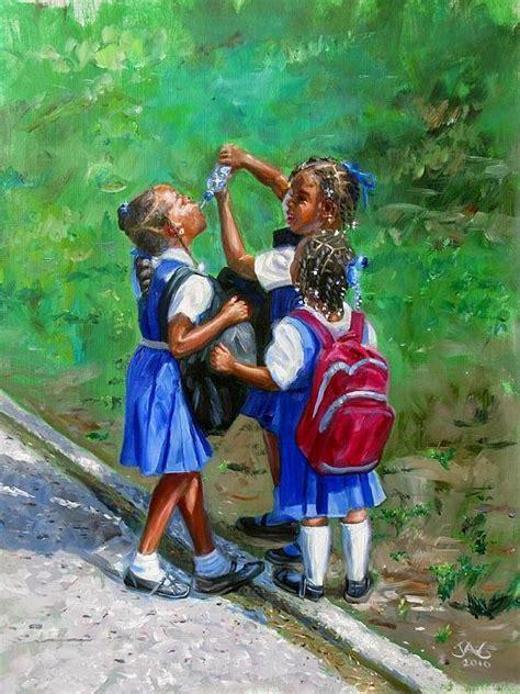 colorful  cheerful caribbean art  cheer