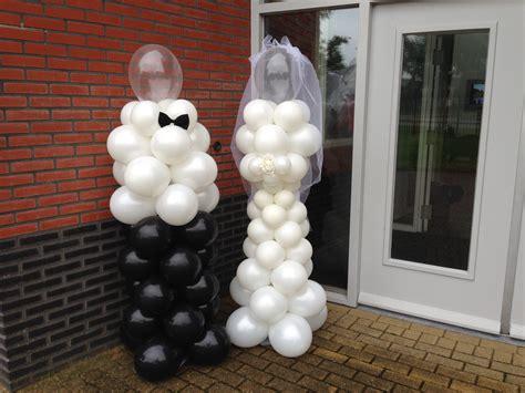 bruiloft versiering nijmegen ballonpilaar bruid bruidegom axitraxi