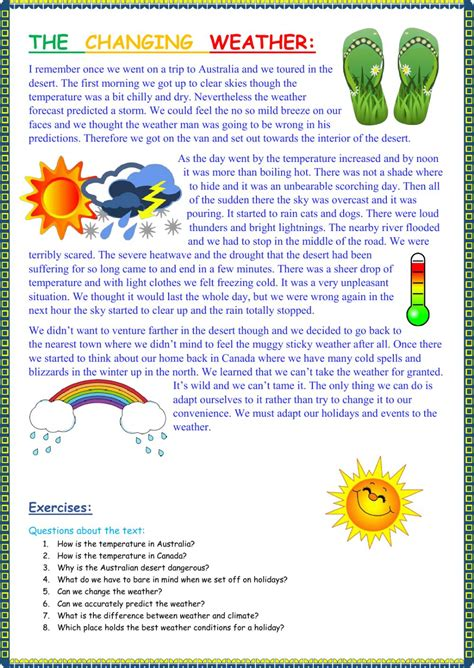 the changing weather interactive worksheet