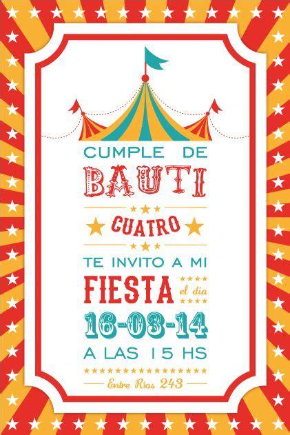 descargar marcos para invitacion de feria invitaci 243 n circo invitaciones cumplea 241 os