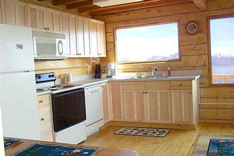 cabin kitchen cabinets dovetail log cabin kachemak bay cabins alaska 1904