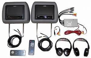 Ford Flex Headrest Dual Dvd Video Monitors 2010 2011