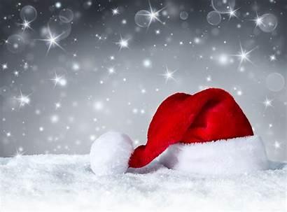 Santa Christmas Hat Days Hospital Background Snow