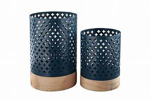 Daichi Navy Candle Holders By Ashley At Gardner White