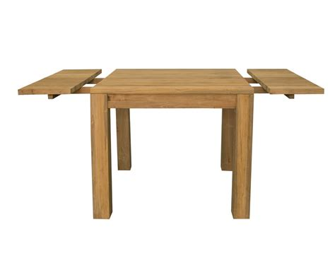 Square Extending Dining Tables  Solid Reclaimed Teak