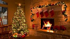 Christmas Scene - Christmas Fireplace - Christmas Tree