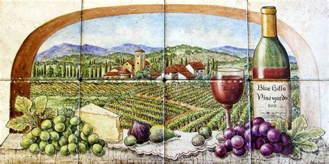 Italy Mediterranean Countries Scenic Tile Murals Glass by