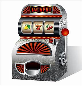 Vintage slot machine stock vector. Illustration of ...