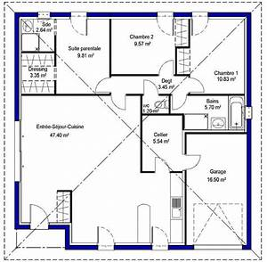 25 best ideas about plan maison plein pied on pinterest With plan de maison 100m2 plein pied