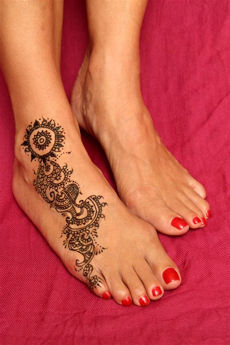 Henné Pied Simple Foot Henna Design Alliebee Henna