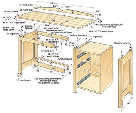 kids desk plans  woodworking