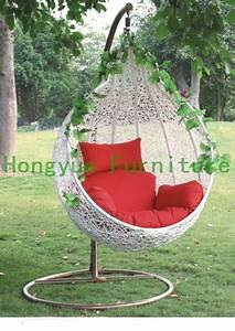 outdoor white rattan garden swing chair with cushions in With katzennetz balkon mit garden swing chair