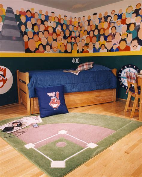 baseball theme bedroom traditional kids  metro