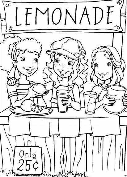 Coloring Lemonade Stand Pages Popular