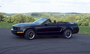 Black 2005 Ford Mustang Convertible