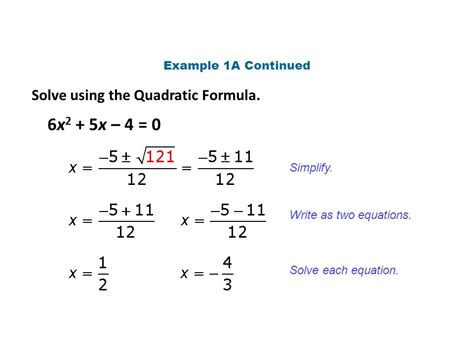 The Gallery For > Quadratic Equation Example