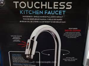 costco kitchen faucets royal line touchless chrome kitchen faucet