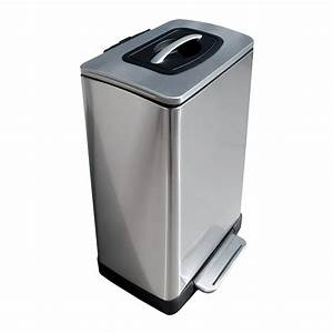 Trash Krusher - Trash Can With Built-In Manual Trash