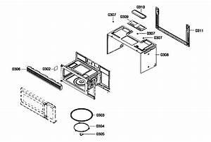 Bosch Microwave Oven Door Assy Parts