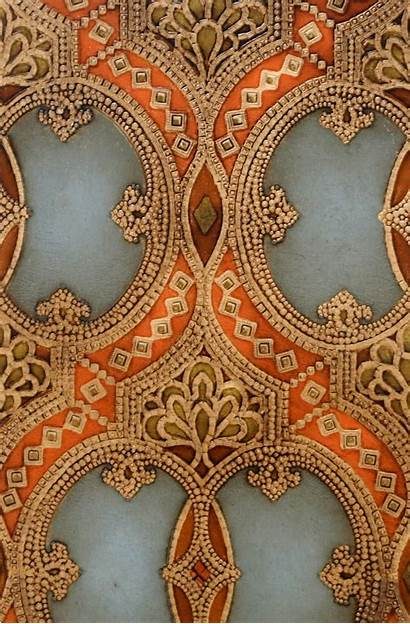 Leather Tooled Antique Oval Sidewall Double Wall