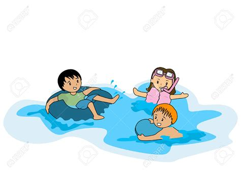 Swimming Clip Swimming Clipart Kid Swimming Pencil And In Color