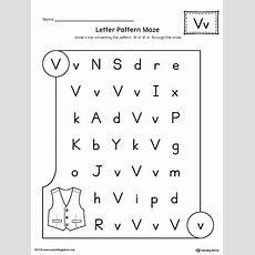 Letter V Pattern Maze Worksheet Myteachingstationcom