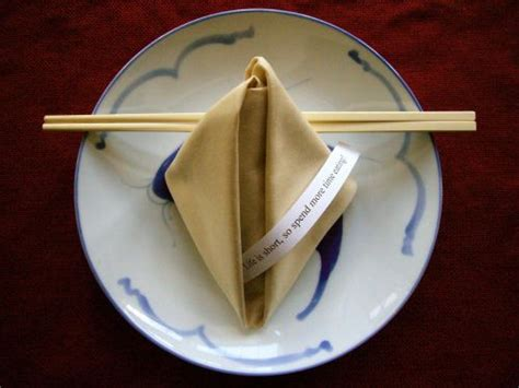 fortune cookie napkin fold   oriental party theme   Chinese Theme   Pinterest   Napkins