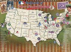 touring all 30 major league baseball stadiums b 233 isbol y vaca touring all 30 major league baseball stadiums sports baseball stadium map baseball