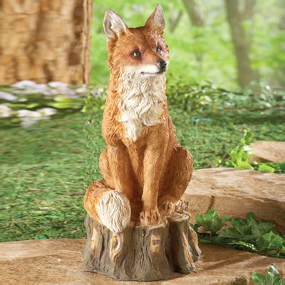 Regal Fox Garden Statue From Collections Etc