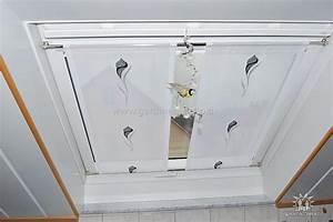 Gardine Für Dachfenster : heller statischer vorhang f r dachschr gen mit blumenmuster ~ Watch28wear.com Haus und Dekorationen