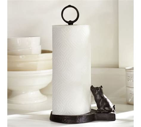 restaurant table top paper towel holder vintage blacksmith pig paper towel holder pottery barn