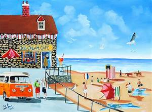Fun At The Seaside Painting by Gordon Bruce