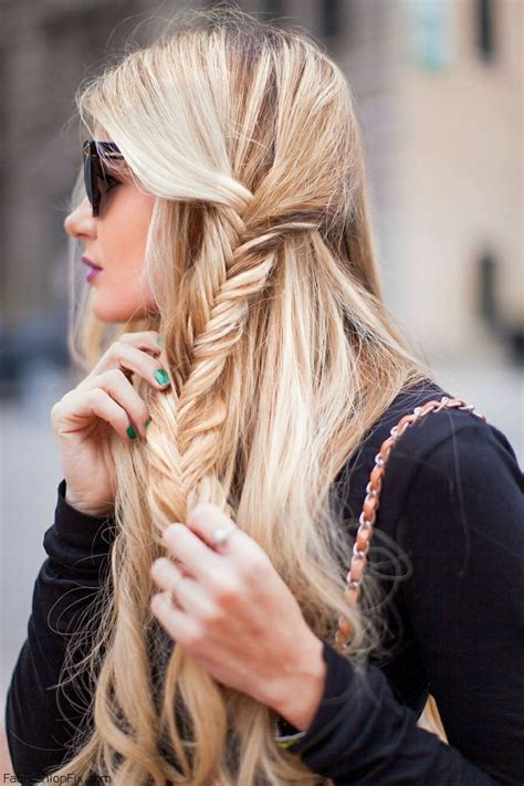 hair    fishtail braid hairstyle fab fashion fix