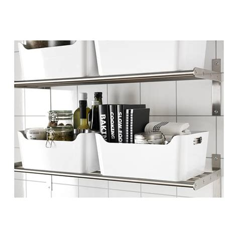 ikea kitchen storage boxes variera box white 34x24 cm ikea 4564