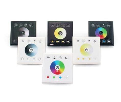 wall mounted touch panel color temperature wifi controller