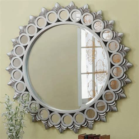 Silver Glass Mirror  StealASofa Furniture Outlet Los