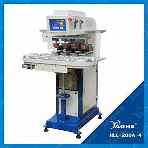 Four Colour Sealed Ink Cup Conveyor Pad Printing Machine