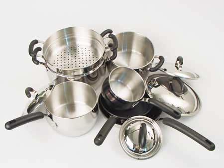 meyers bella cuisine  piece cookware set  shipping today overstockcom