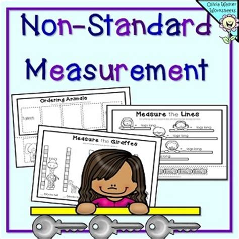 non standard measurement length worksheets by walker teachers pay teachers