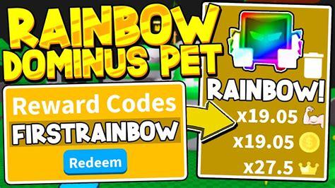 secret rainbow dominus pet codes  saber simulator